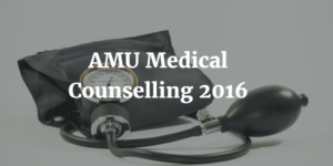 AMU Medical Counselling 2016