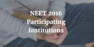 NEET 2016 Participating Institutions