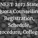 NEET State Quota Counselling 2017